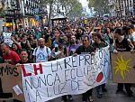 Integrantes del 15M protestan por la JMJ