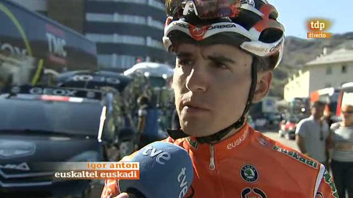 El ciclista español del conjunto Euskaltel-Euskadi Igor Antón se ha mostrado resignado tras ceder minuto y medio con los favoritos en la cuarta etapa de la Vuelta a España, que finalizó con la ascensión a Sierra Nevada, y ha reconocido que no ha enco