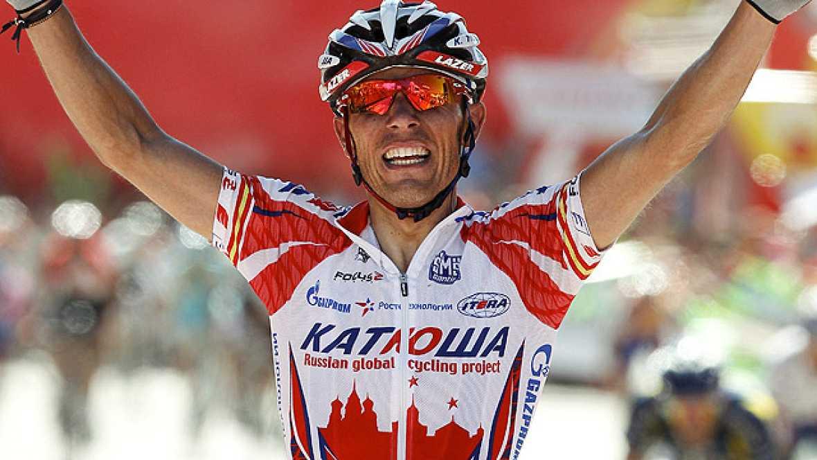El corredor del Kathusa ha ganado la quinta etapa de la Vuelta al imponerse en la subida final al 'muro' de Valdepeñas de Jaén, con lo que se ha colocado tercero en la general, a 23 segundos del líder Chavanel.
