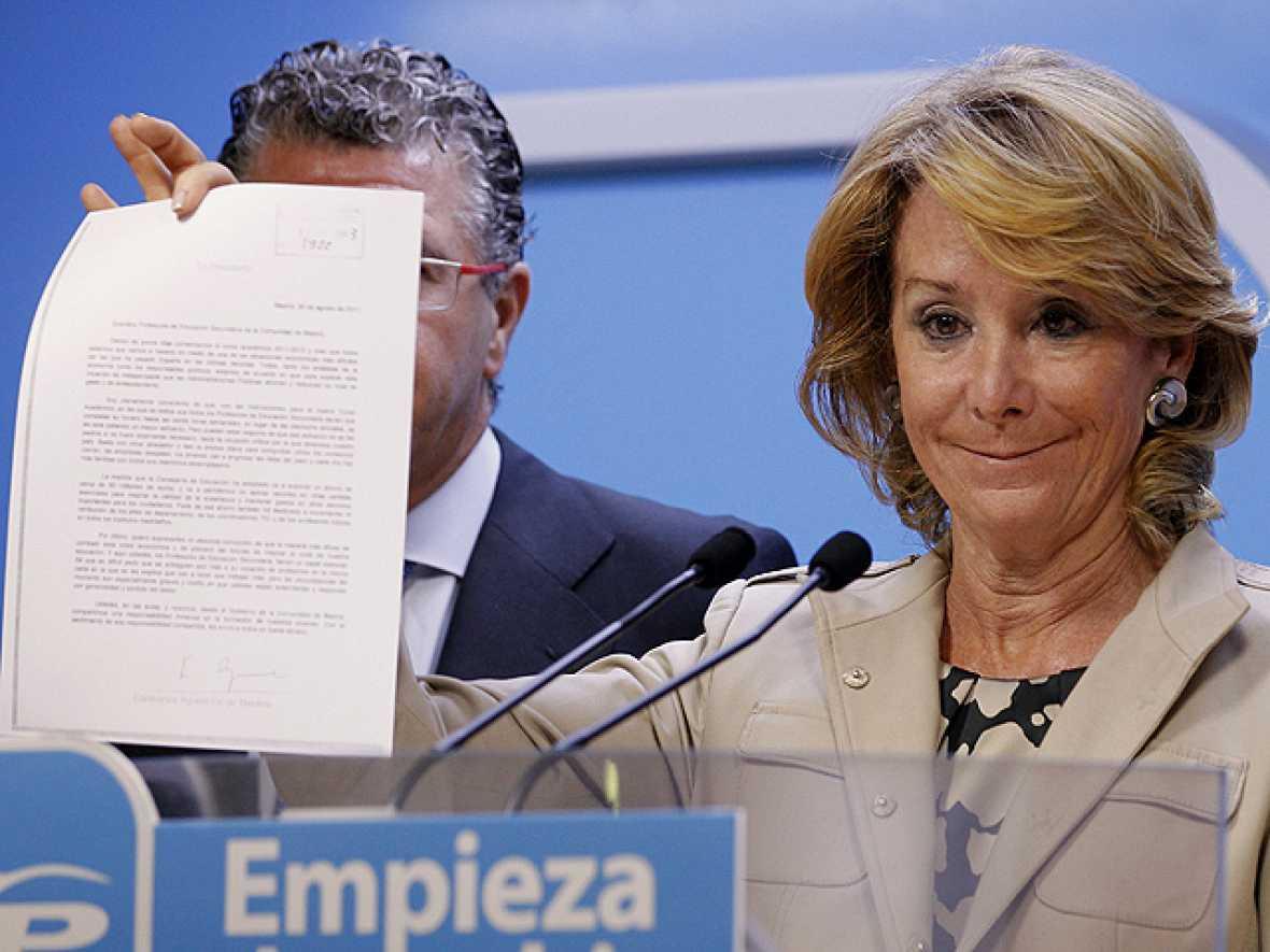 Aguirre pide disculpas a los profesores por insinuar que trabajaban poc