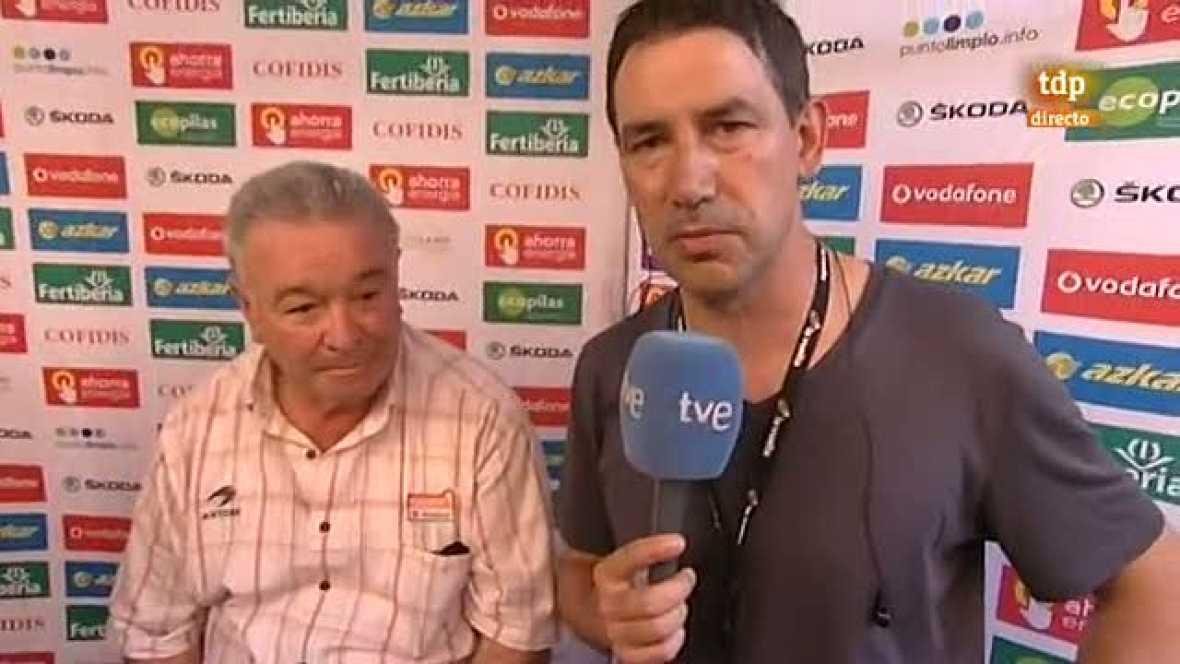 """El presidente de la Fundación Euskadi, Miguel Madariaga, agradeció a la organización de la Vuelta """"haber venido al País Vasco"""" 33 años después. """"Ha sido muy emocionante; posiblemente la Vuelta a España no ha tenido tanto público como aquí. Lo más imp"""