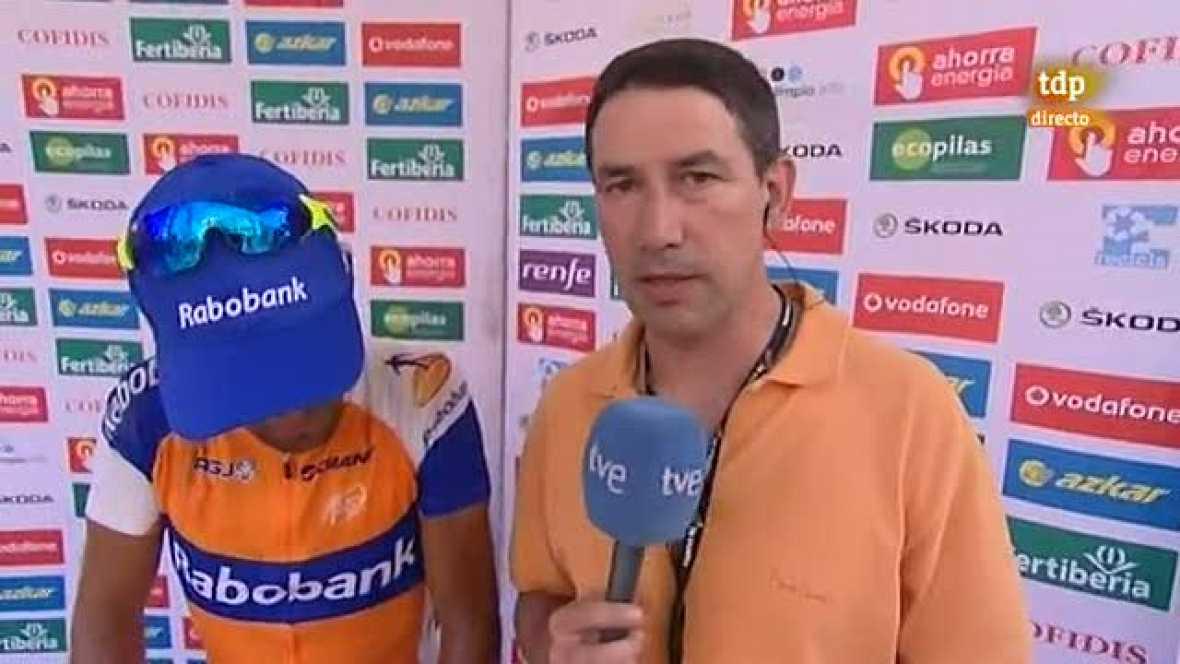 El ciclista asturiano del equipo Rabobank lo intentó con todo para poder regalarle la victoria de etapa a su madre en su cumpleaños. Barredo ha tenido que conformarse con el premio a la combatividad.