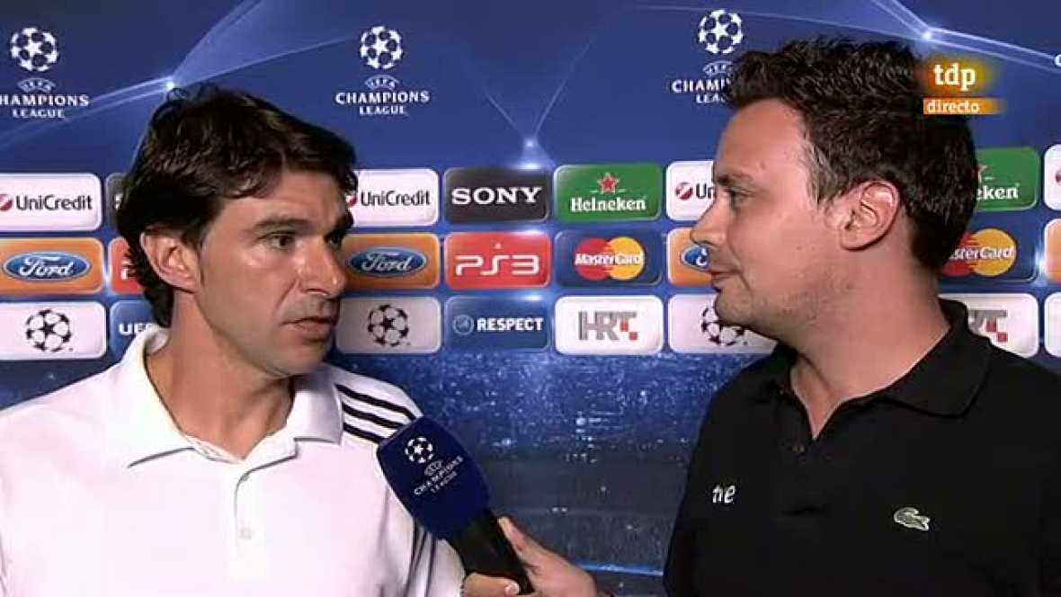 """El segundo entrenador del Madrid valora positivamente el 0-1 en Zagreb por tratarse de un rival """"muy difícil"""""""