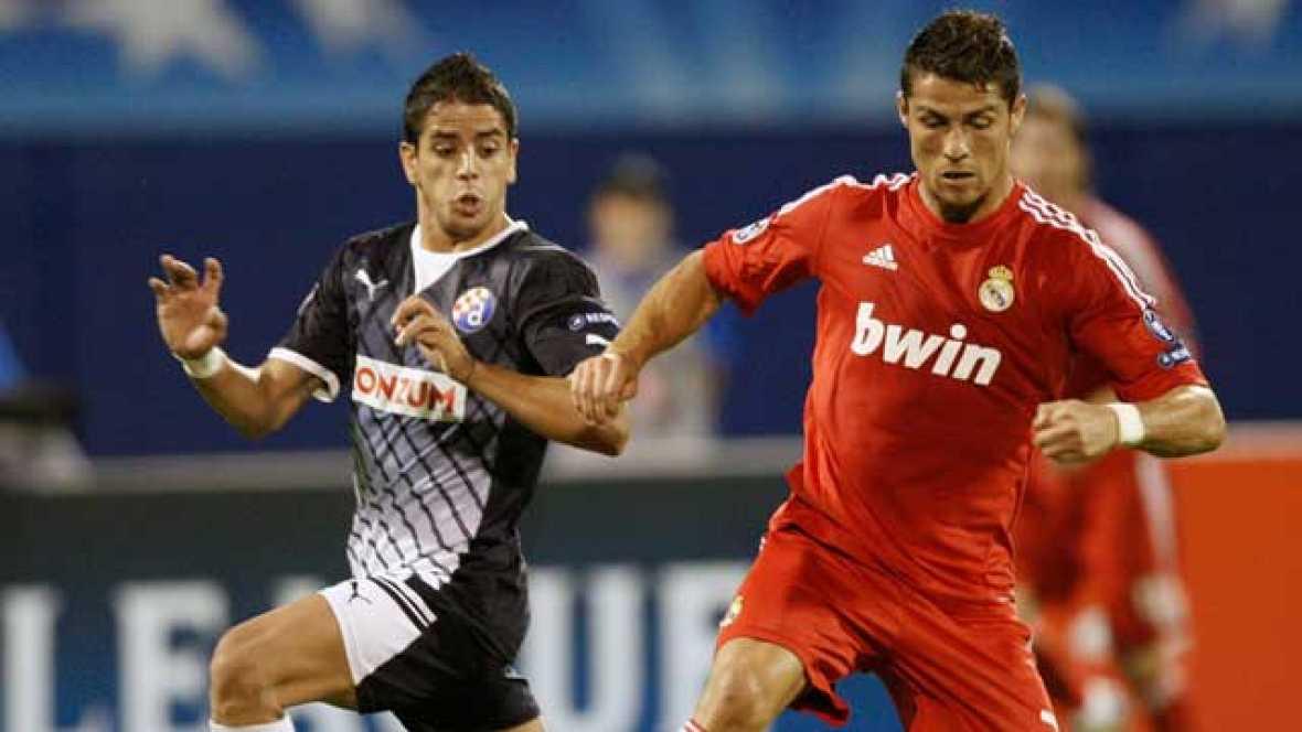 El Real Madrid ha sufrido más de lo previsto para imponerse a domicilio al Dinamo de Zagreb (0-1) , con tanto de Di maría.  El equipo croata se mostró correoso, presionando y tocando con criterio. El Real Madrid no consiguió imponer su juego con un g