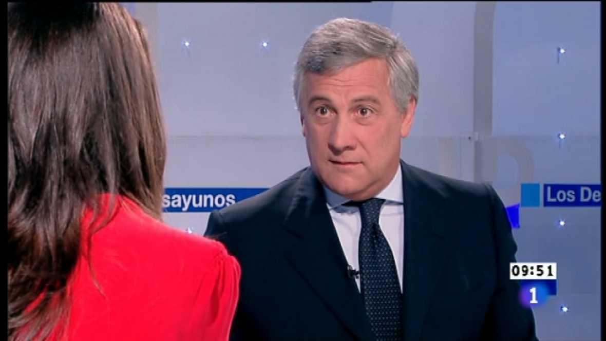 Los desayunos de TVE - Antonio Tajani, Vicepresidente de la comisión europea - Ver ahora
