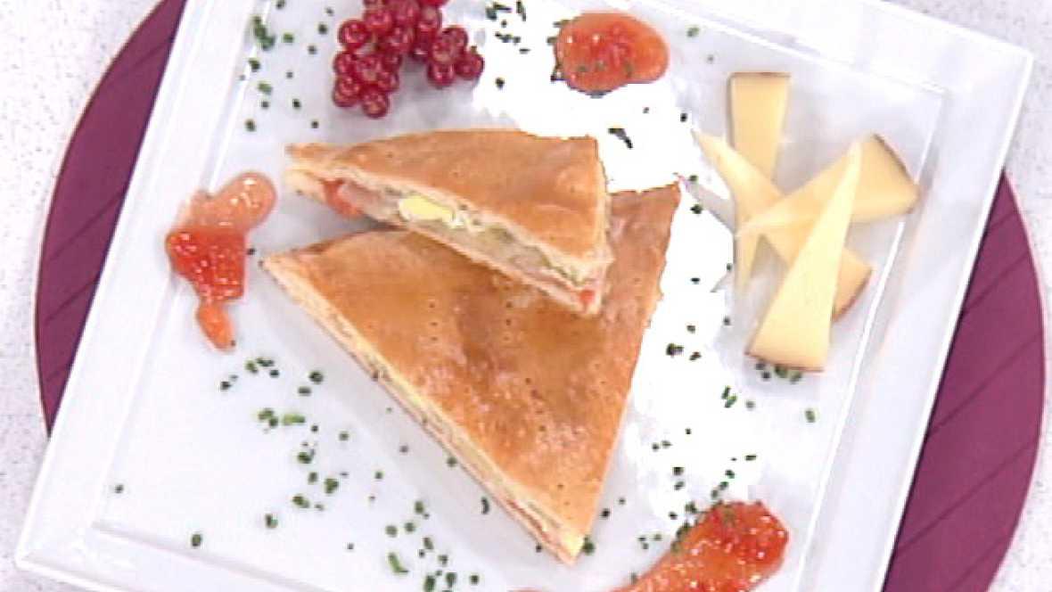 Empanada rellena con huevos a la panadera