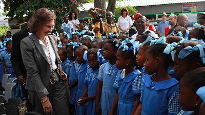La Reina Sofía reconoce la labor de los españoles en la reconstrucción de Haití