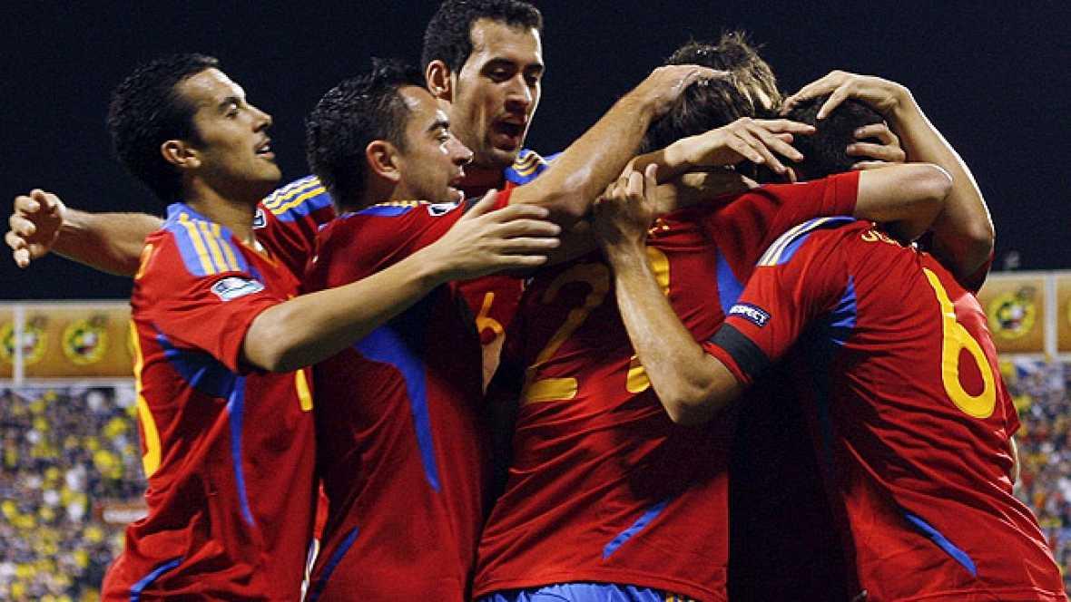David Silva anotó el segundo tanto de España contra Escocia de una manera brillante, en una jugada individual.