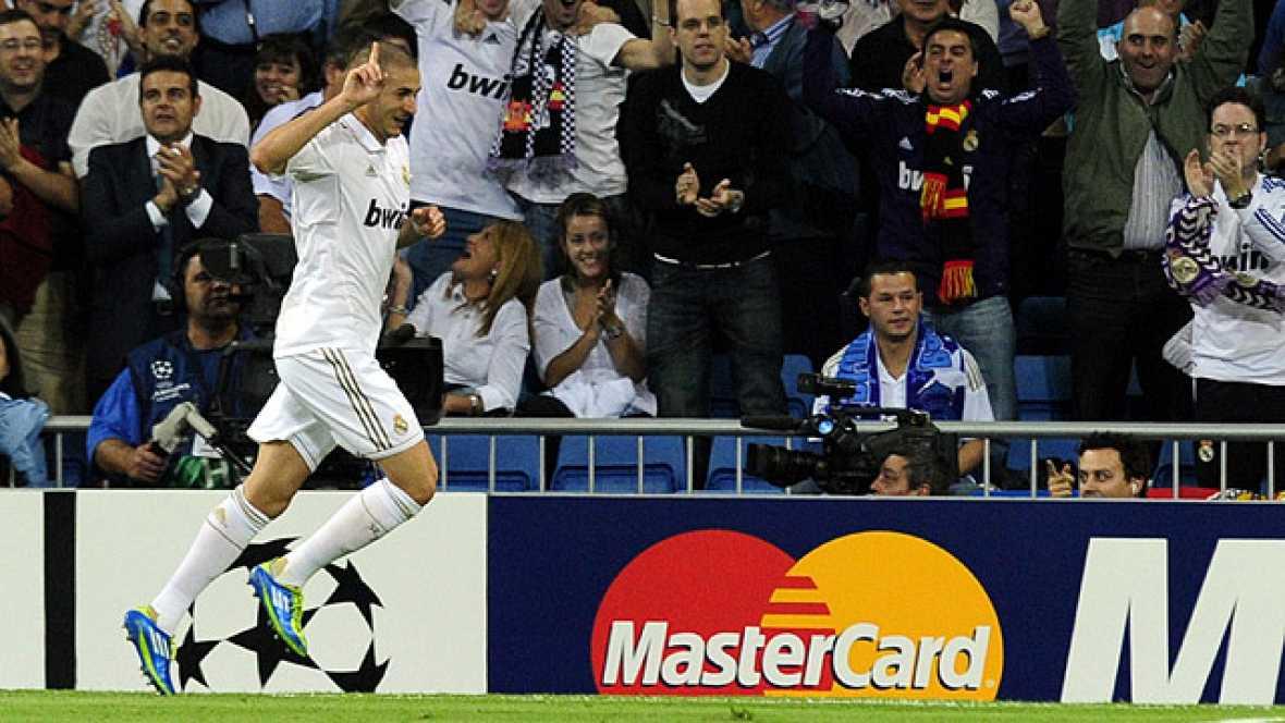 El francés Karim Benzema ha sido el autor del primer tanto del Real Madrid al Olympique de Lyon, volviendo a marcar de nuevo a su exequipo, tal y como hiciera en la temporada pasada.
