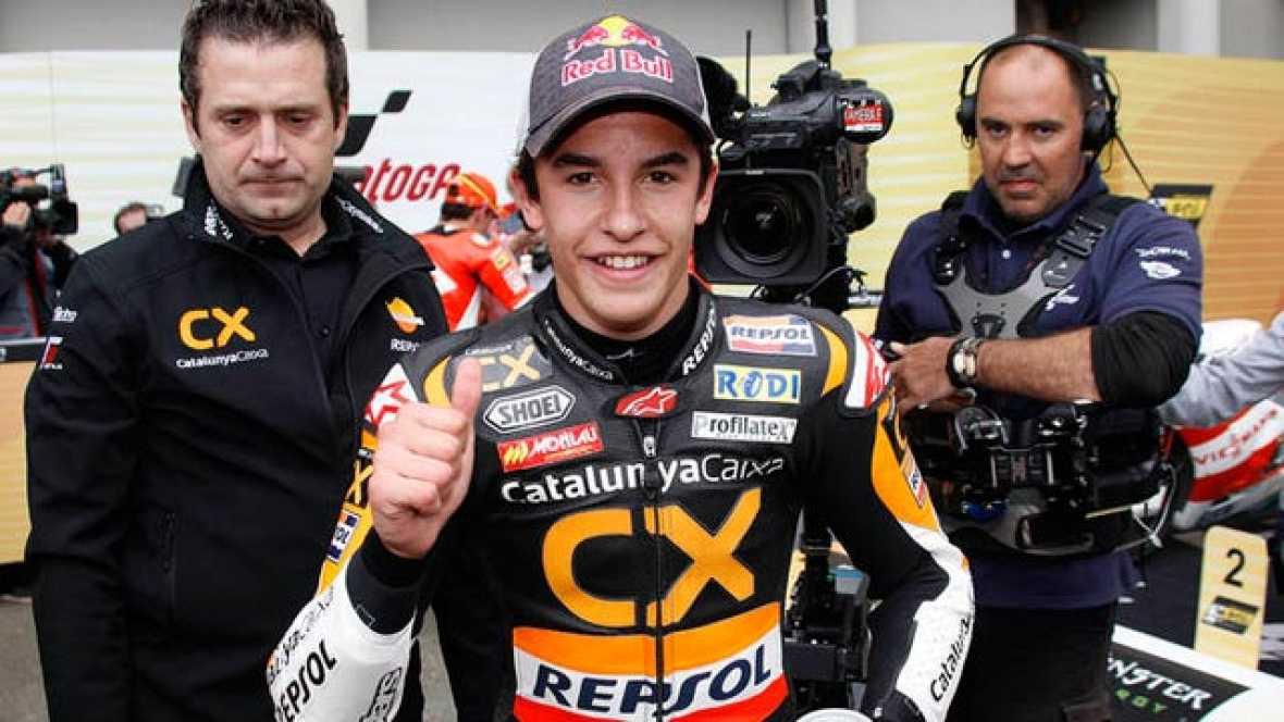 Marc Márquez anuncia en rueda de prensa que permanecerá en la categoría de plata en 2012