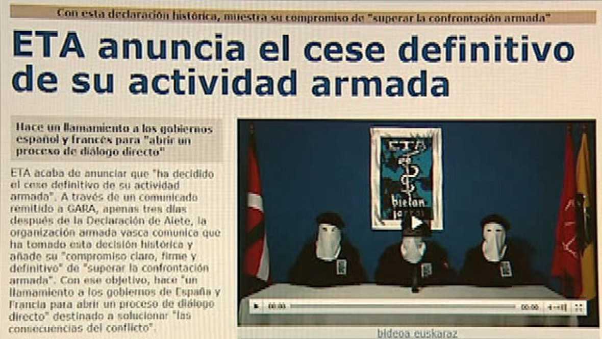 El diario Gara publica el comunicado de la banda terrorista ETA