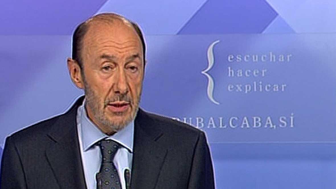"""Rubalcaba: """"ETA no es la protagonista; han ganado la democracia y las instituciones"""""""