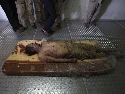 Las últimas imágenes de Gadafi antes de morir