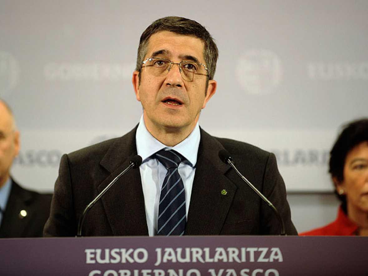 """Patxi  López comenzará el """"nuevo tiempo político"""" en el País Vasco dialogando con todos los partidos"""