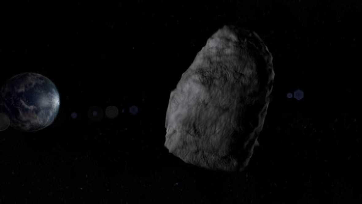 """El asteroide 2005 YU55 es un objeto grande y oscuro que el proximo 8 de noviembre se cruza en su viaje por el Universo con nuestro planeta. Está considerado por la NASA como """"potencialmente peligroso"""" por su tamaño y su proximidad a la Tierra. Sin"""