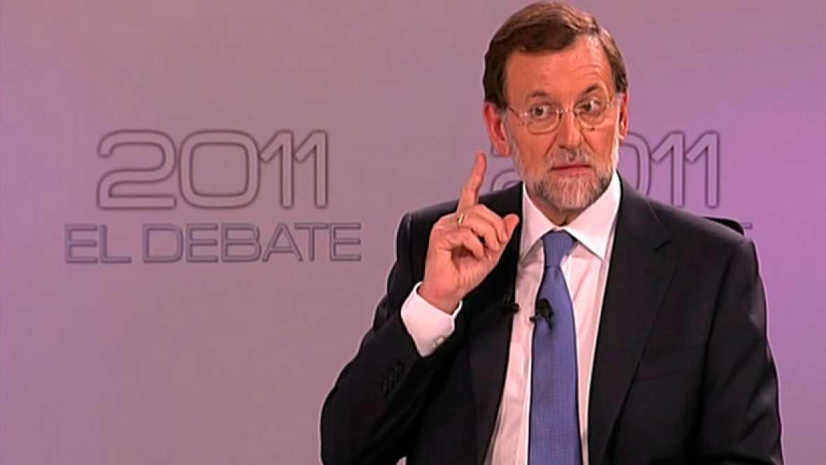 """El candidato del PP llama en un lapsus a Rubalcaba """"señor Rodríguez Zapatero""""."""