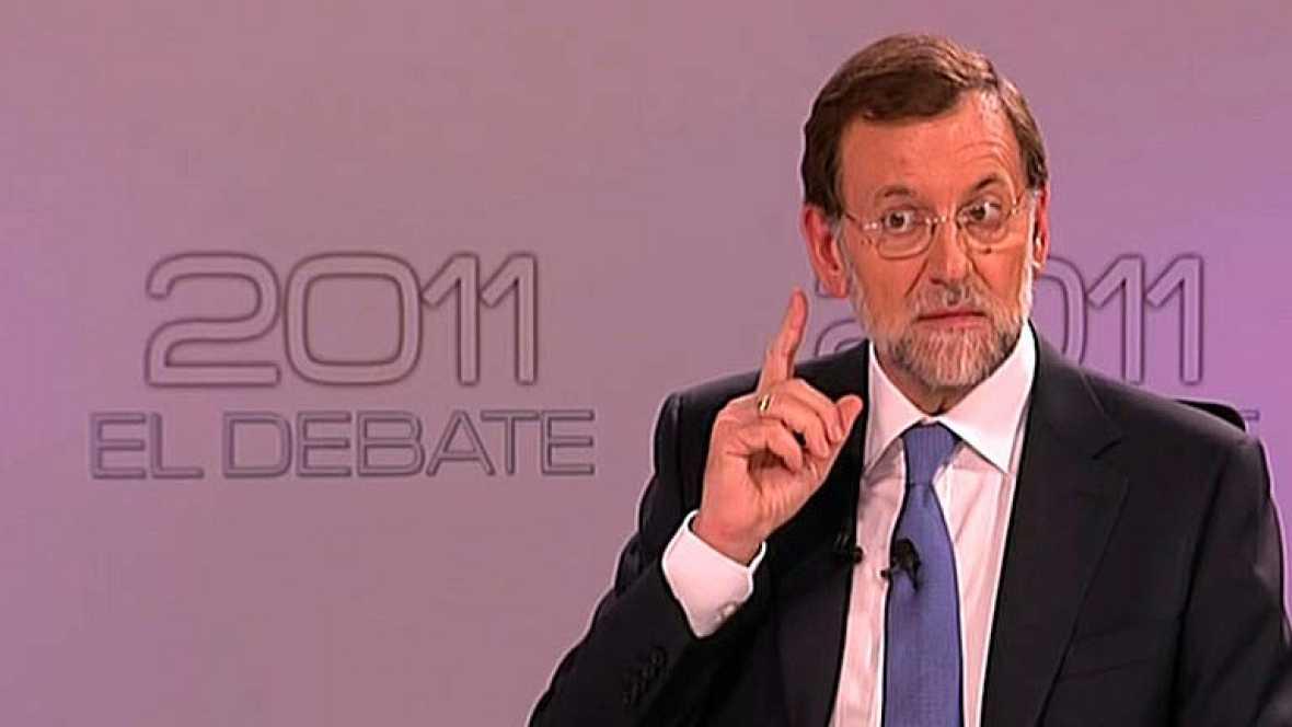 """""""España necesita un cambio y lo necesita con urgencia"""", afirma el candidato popular en su último turno de palabra. Lee su intervención."""
