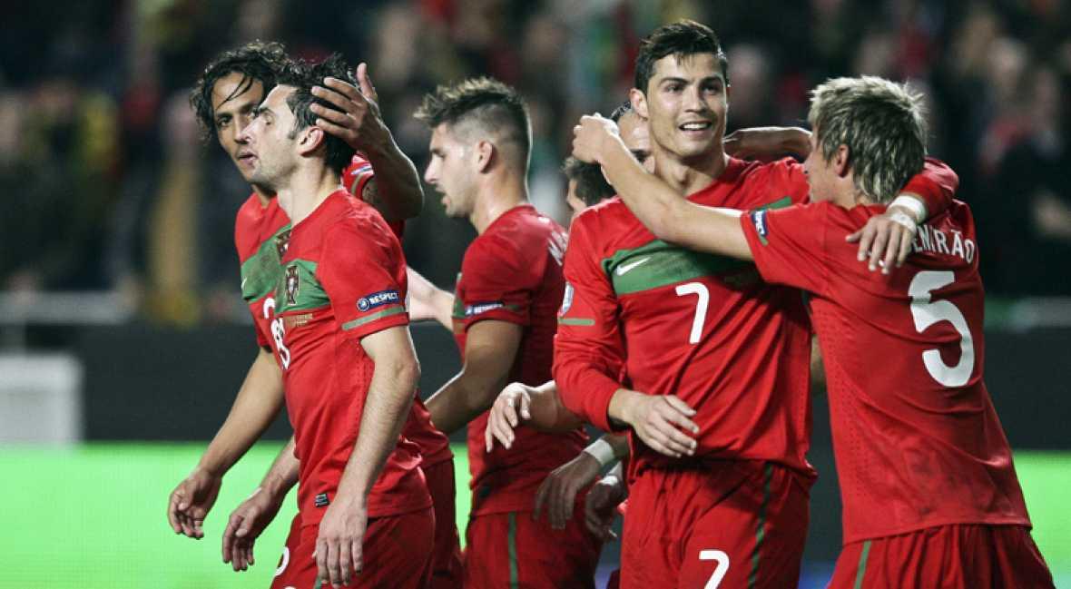 Portugal, en la Eurocopa goleando