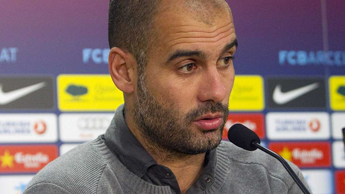 """El entrenador del Barcelona, Pep Guardiola, ha admitido hoy que, si su equipo quiere reeditar el título de Liga y batir al Real Madrid, tendrá que subir su nivel futbolístico de aquí a final de temporada. """"Hemos visto  que estamos a un buen nivel, pe"""