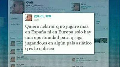 El jugador madrileño José María Gutiérrez, 'Guti', ha anunciado su intención de retirarse del fútbol europeo apenas unas semanas después de dejar el Besiktas turco. Sólo hay una oportunidad para que siga jugando, es en algún país asiático, que es lo