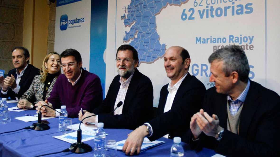 Visita de Rajoy a la sede del Partido Popular en Pontevedra