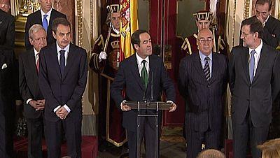 José Bono pide al futuro Gobierno del PP y a la oposición caminar juntos y arrimar el hombro