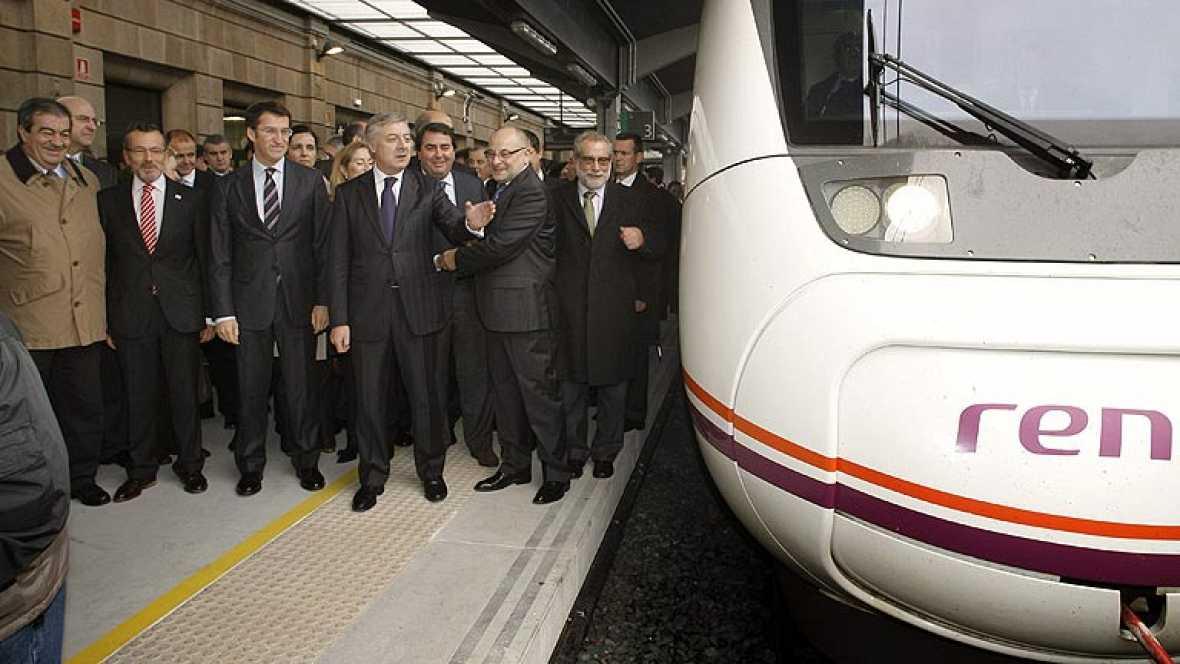 Galicia cuenta ya con su primer tramo de tren de alta velocidad
