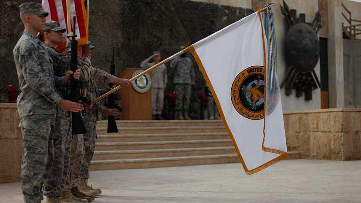 El secretario de Defensa de Estados Unidos, Leon Panetta,  ha presidido  en Irak  la ceremonia oficial que pone fin a la intervención estadounidense en el pais. El  acto escenifica la retirada definitiva de las tropas de EE.UU. a finales de este mes