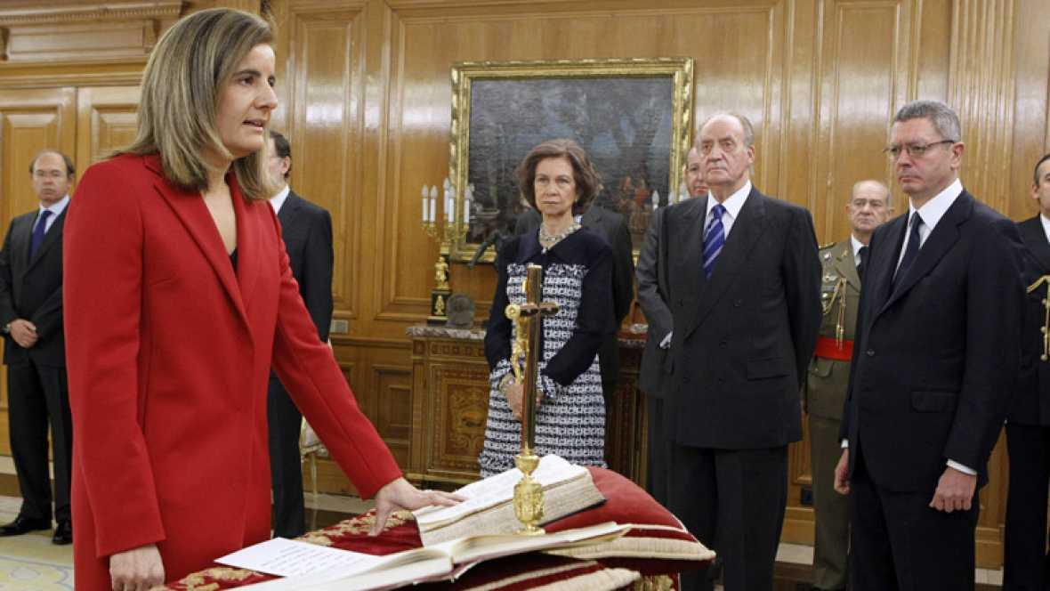 Fátima Báñez, ministra de Empleo, apuesta por el diálogo