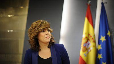 La vicepresidenta Soraya Saénz de Santamaría se estrena como portavoz del Gobierno