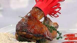 Cochinillo asado con confitura de pimientos (23/12/11)
