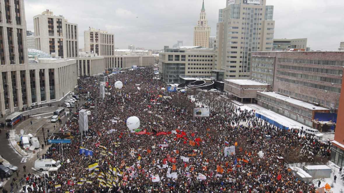 Manifestaciones en Rusia para que se repitan las elecciones
