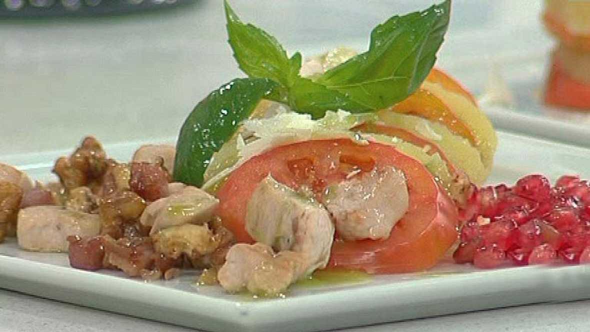 Ensalada de patata con vinagreta de albahaca (04/01/12)