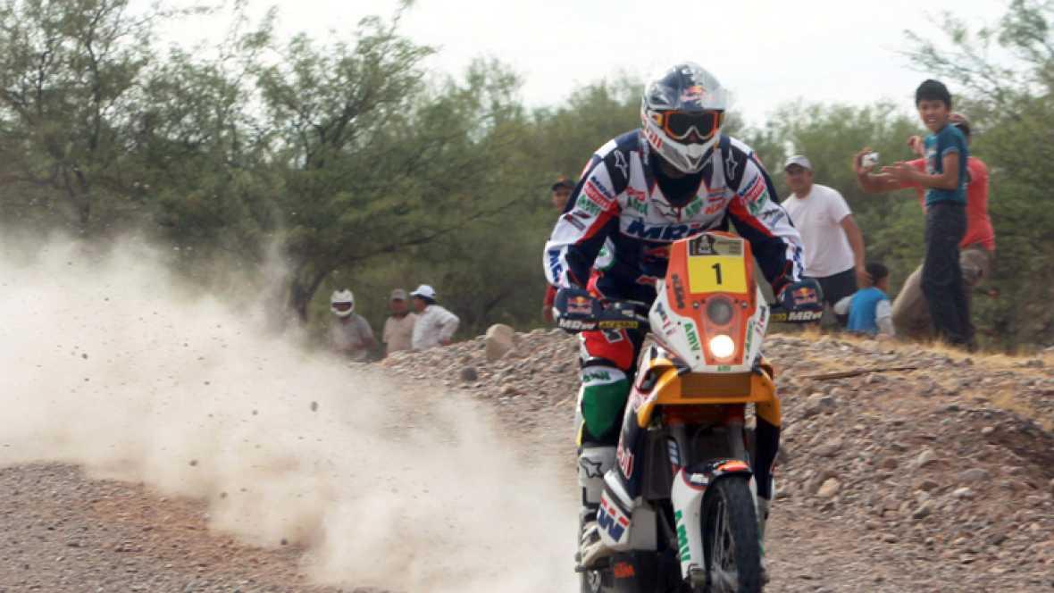 Resumen de la cuarta etapa del Dakar.