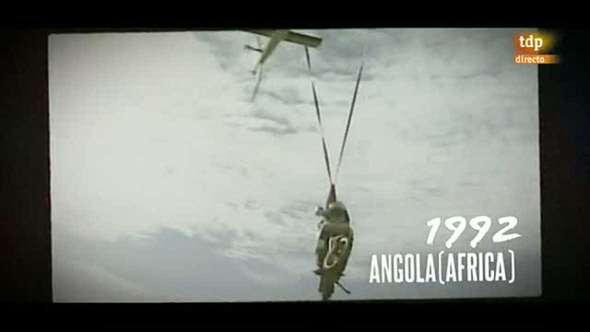 La edición de 1992 del Rally París - Dakar tuvo un momento de dificultad para los pilotos con el cruce de un río en Ángola.