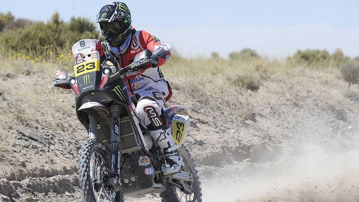"""El piloto español Joan Barreda (Husqvarna) ha reconocido que se  siente """"eufórico"""" tras la victoria que ha logrado en la décima etapa  del Dakar 2012, aunque reconoce que el triunfo """"no es sólo"""" suyo,  sino """"de todos los componentes del equipo""""."""