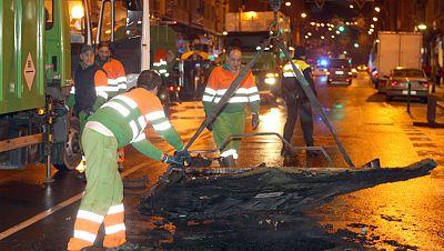 Manifestación de apoyo en Bilbao a los etarras detenidos cerca de París termina con la quema de contenedores
