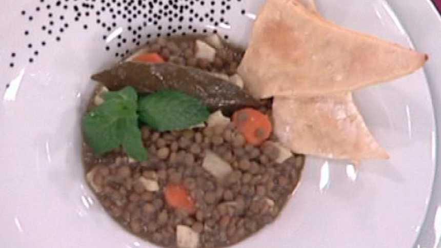 Saber Cocinar - Lentejas lionesas con calamares encebollados (25/01/2012)