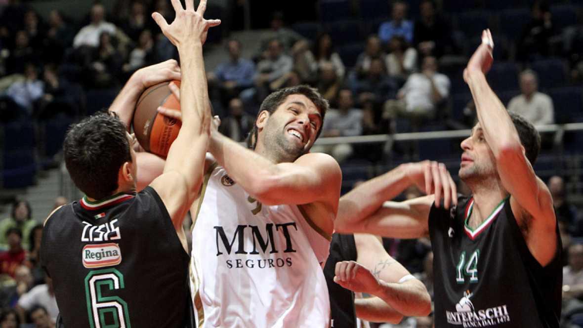 El Madrid tropieza en casa ante el Montepaschi