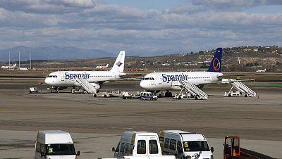 Los trabajadores de Spanair han recibido en su cuenta 1.000 euros de anticipo