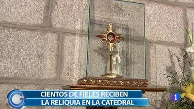 Más Gente - Cientos de fieles reciben en Ávila una reliquia de Juan Pablo II