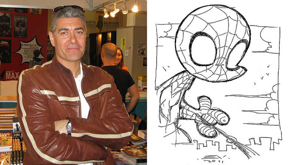 Enrique V. Vegas nos enseña a dibujar un Spiderman cabezón