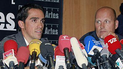 """Alberto Contador ha convocado a los periodistas para defender su inocencia ante la sentencia del TAS. """"Voy a seguir en el ciclismo, plenamente, y lo voy a seguir practicando de una forma limpia, como lo he hecho siempre"""", ha asegurado el ciclista de"""