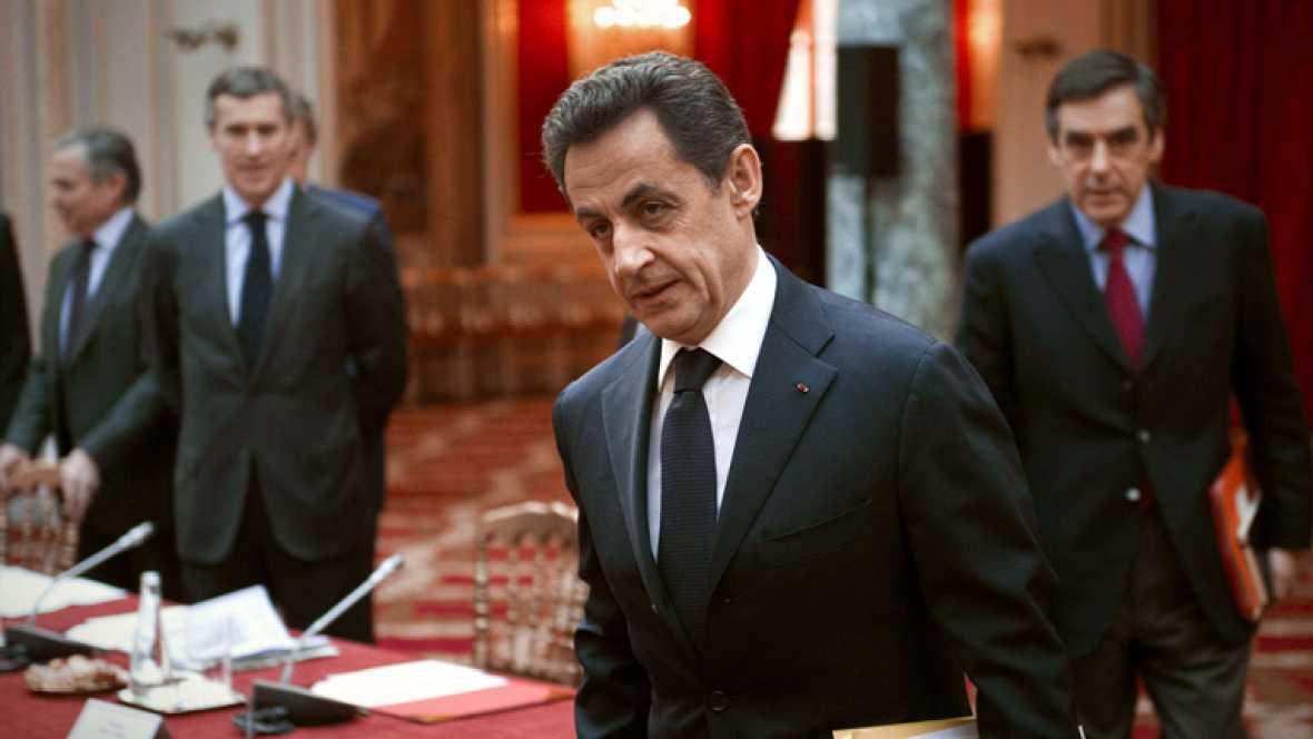 En Francia, el programa electoral de Sarkozy da un giro a la derecha