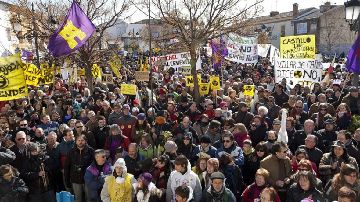 Manifestación en Cuenca contra el ATC