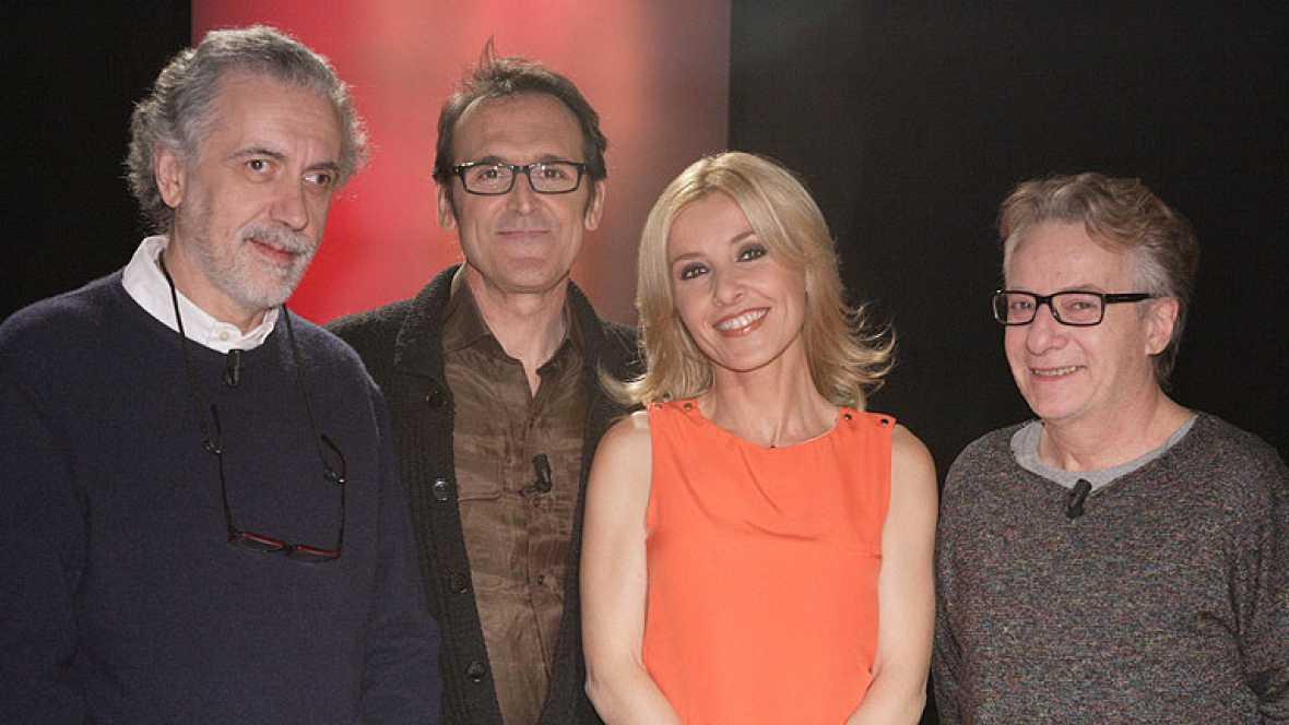 Fernando Trueba, Javier Mariscal y Alberto Iglesias en 'Versión española'