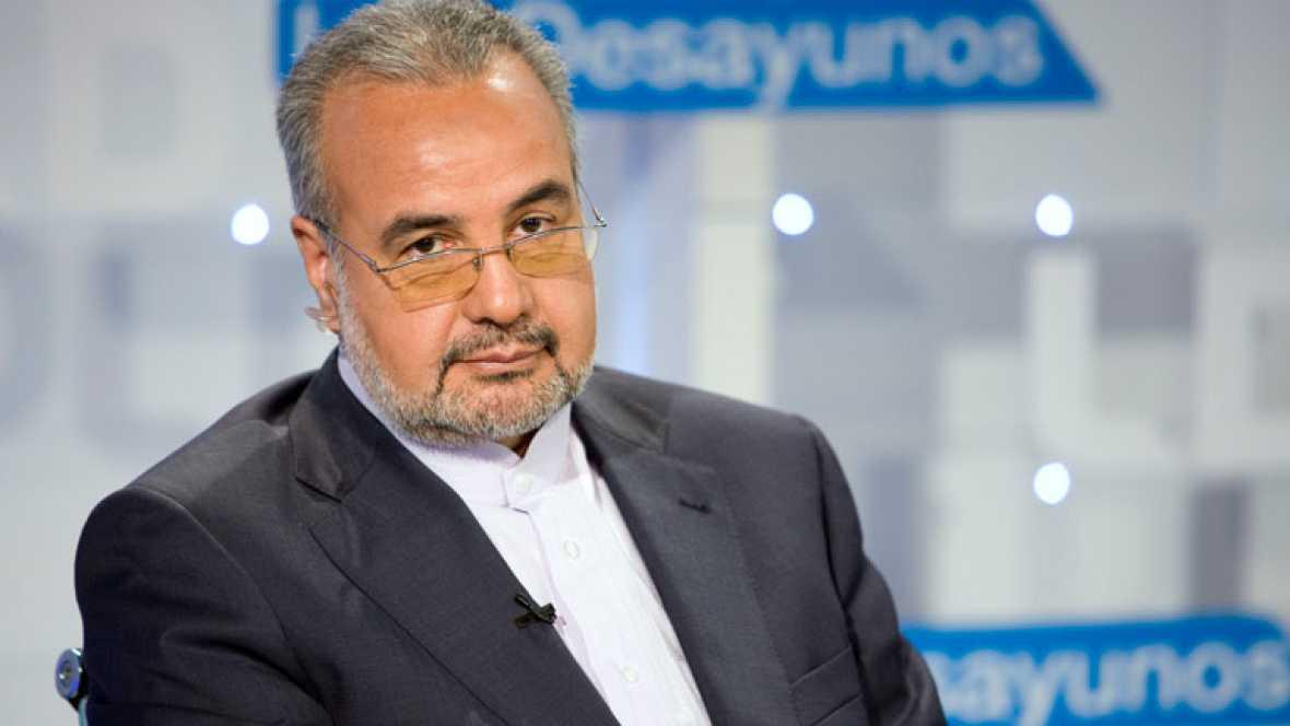 El embajador de Irán, Morteza Saffari, en Los desayunos de TVE