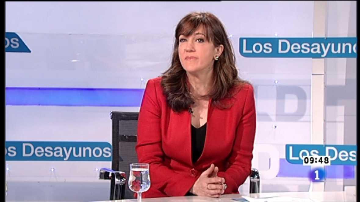 Los desayunos de TVE - Soraya Rodríguez, portavoz del grupo parlamentario socialista en el Congreso - Ver ahora