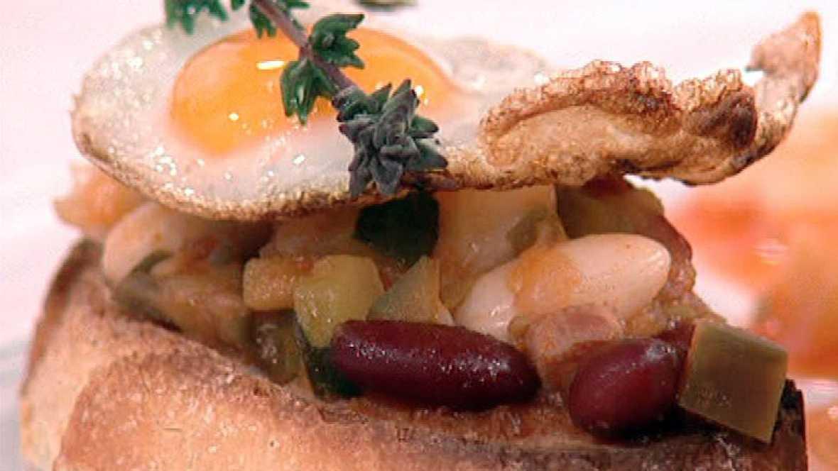 Saber cocinar pisto con jud as blancas y huevos de for Cocinar judias blancas