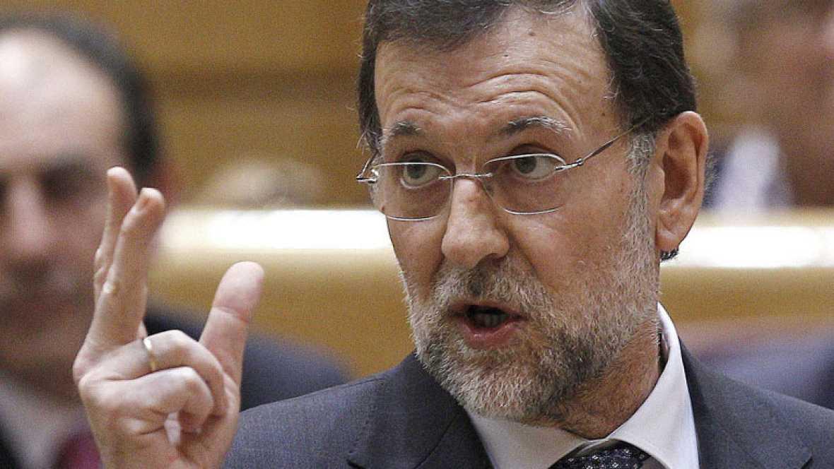 Rajoy en la sesión de control en el Senado